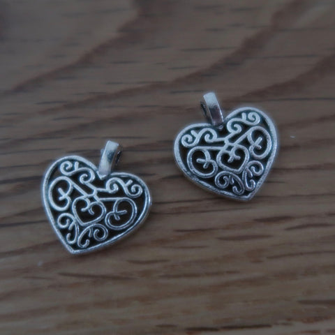 Heart stitch markers or progress keepers