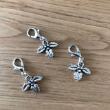 Holly stitch markers or progress keepers (set of 3)