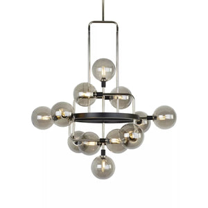 "30"" wide LED Viaggio chandelier (2 color options)"