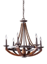"Load image into Gallery viewer, 26"" Adan 6 Light Single Tier Chandelier"
