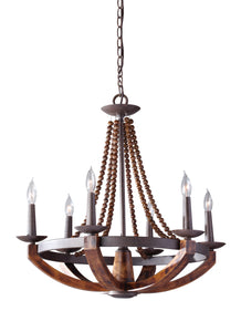 "26"" Adan 6 Light Single Tier Chandelier"