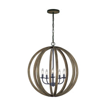 "Load image into Gallery viewer, 26"" Allier 5 Light Chandelier"