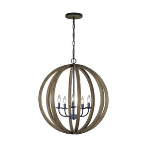 "26"" Allier 5 Light Chandelier"