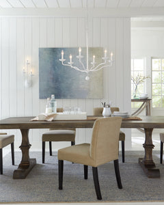 "Plaster White Annie 6 Light 33"" Wide Chandelier"