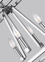 "Load image into Gallery viewer, Chrome Conant 8 Light 48"" Wide Chandelier"