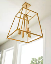 "Load image into Gallery viewer, Chrome Conant 4 Light 23"" Wide Candle Style Cage Chandelier (also available in Gilded Satin Brass)"