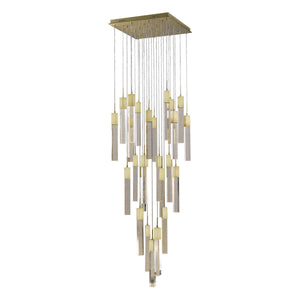 "36"" wide Glacier LED chandelier"