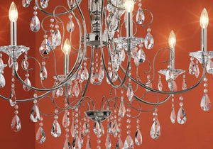 "25"" w Chrome Jules Crystal chandelier with 6 Lights"