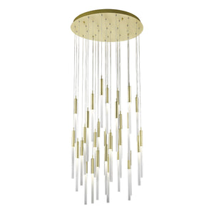"30"" wide minimalistic LED pendant 31 light (2 color options)"