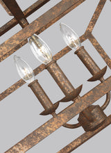 "Load image into Gallery viewer, Distressed Goldleaf Marquelle 6 Light 42"" Wide Chandelier"
