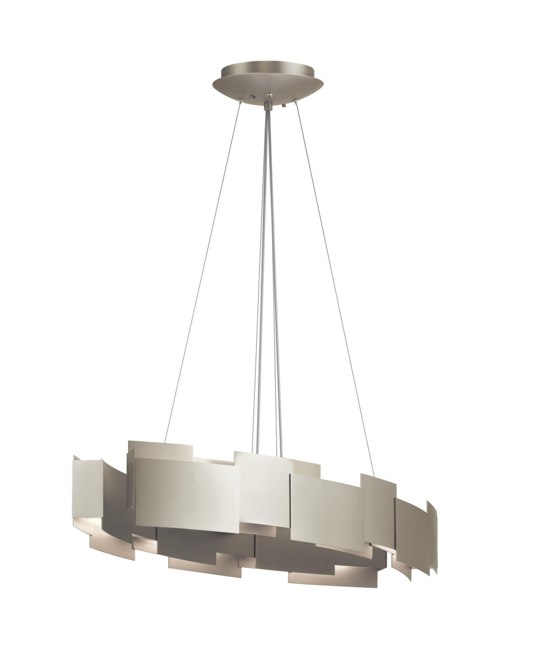 Satin Nickel Moderne 2 Light 34
