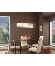 "Load image into Gallery viewer, 36"" wide Cambridge Bronze Moxie Linear Chandelier with 3 Lights (Also available 48"" wide)"