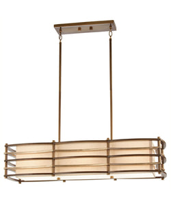 "36"" wide Cambridge Bronze Moxie Linear Chandelier with 3 Lights (Also available 48"" wide)"