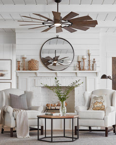 "Prairie LED ceiling fan collection (52"", 62"" or 72"" & two color options)"