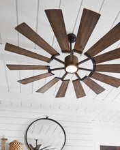"Load image into Gallery viewer, Prairie LED ceiling fan collection (52"", 62"" or 72"" & two color options)"