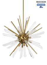 "Load image into Gallery viewer, Burnished Brass Quorra 16 Light 33"" Wide Chandelier"