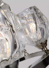 "Load image into Gallery viewer, Polished Nickel Rubin 6 Light 26"" Wide Chandelier Votive glass"