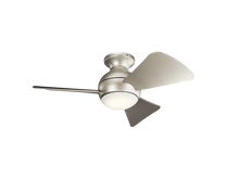 "Load image into Gallery viewer, 34"" Sola LED ceiling fan"