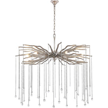 "Load image into Gallery viewer, Willow 36"" wide chandelier with clear crystal (Available in gold or silver)"