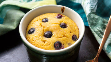 Low Carb Single Serve Blueberry Muffin In A Mug / Gluten-Free & Paleo