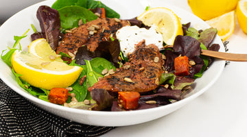 Chorizo & Lamb Liver Salad with Tzatziki Dressing