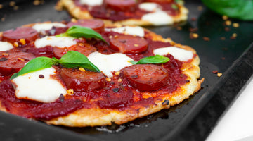 Low Carb Chorizo Pizza Pancakes