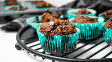 Paleo Double Chocolate Banana Bread Muffins