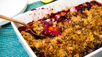 Healthy Blackberry & Pineapple Crumble / Low Carb Recipe