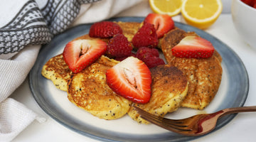 Low Carb Lemon & Poppyseed Pancakes (Pancake Day Recipe)