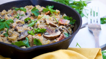 Creamy Primal Mushroom and Bacon Risotto
