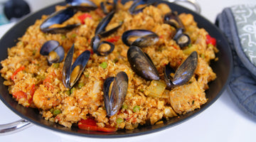 Low Carb Chicken & Chorizo Paella Recipe With Seafood Option