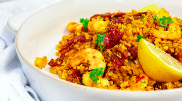 Persian Prawn Styled Cauli Rice / Meygoo Polo Recipe