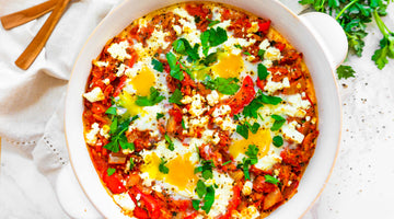 Easy Low Carb Tuna Shakshuka Breakfast Recipe