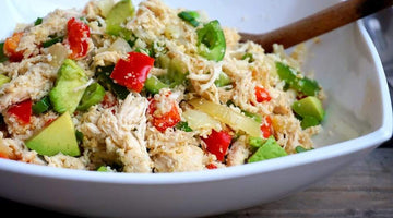 Healthy Chicken Fried Avocado Rice