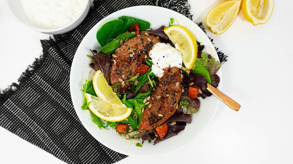 Chorizo and lamb liver salad