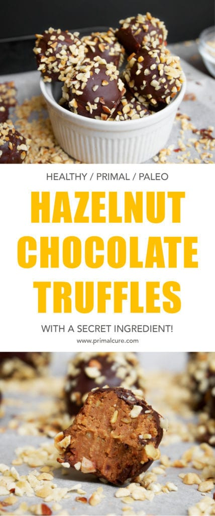 A healthy, creamy, rich and indulgent hazelnut chocolate truffle recipe that's good for you! This recipe is free from refined sugar, contains healthy fats and is primal/paleo friendly. Give these a go this Easter!