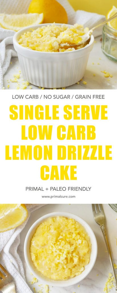 Low carb, grain free and sugar free, my take on the classic lemon drizzle cake still has all the flavour - just minus the sugar and carbs! Light, refreshing, moist and fluffy! This dessert is a healthy recipe not to be missed.