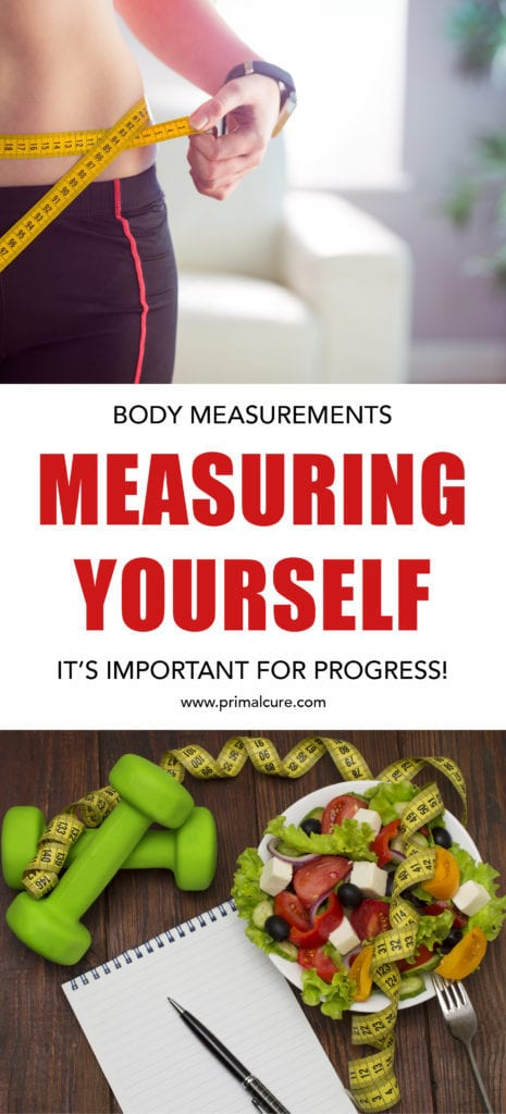Measurements: It's Important For Progress. Measuring your body weekly is amazing to keep track of your own personal record and fitness goals. Check out Primal Cure's measurement post for more!