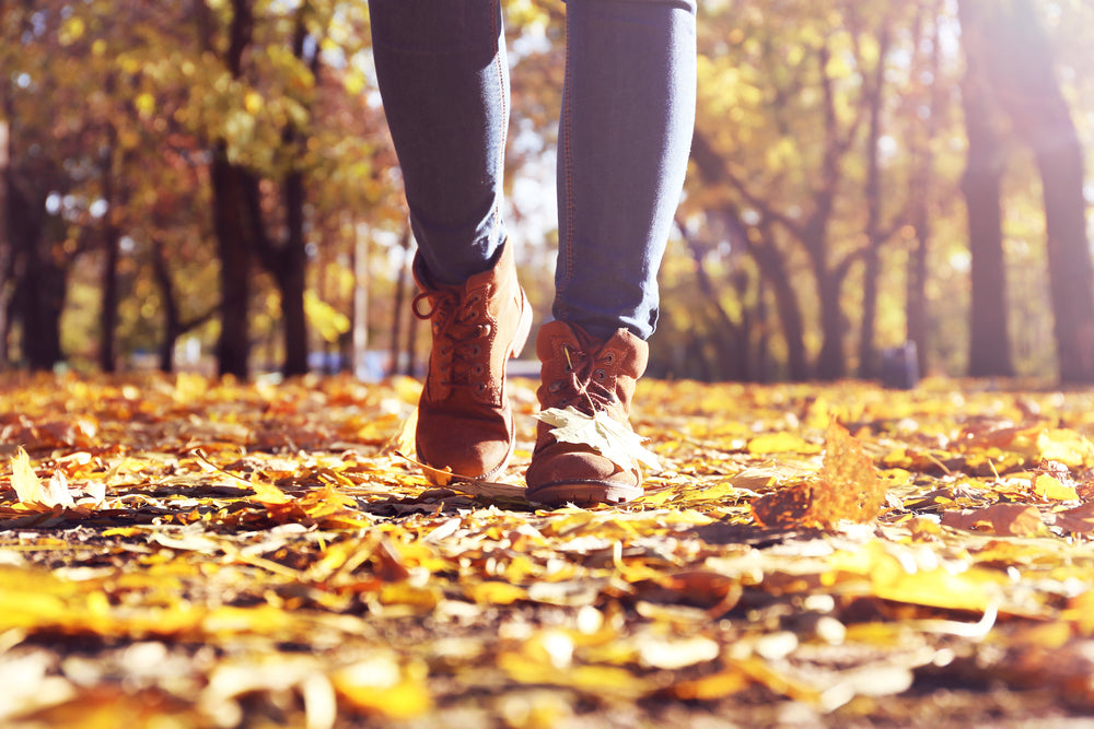 Stay active by walking outdoors