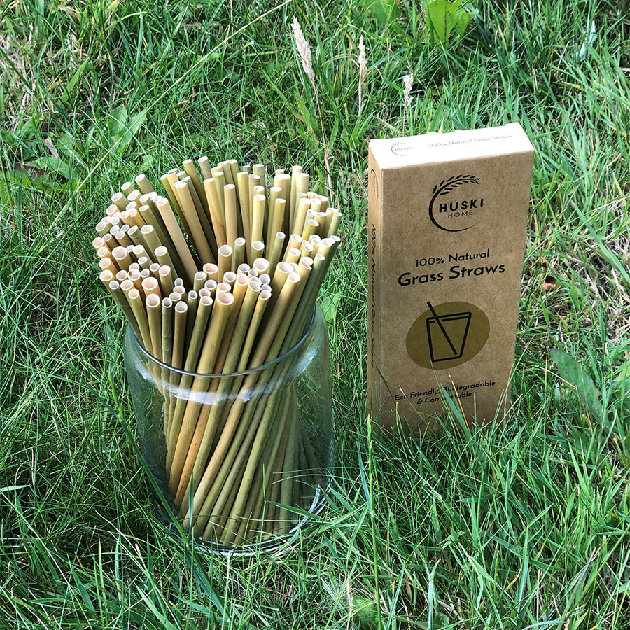 Huski 100% Natural Grass Straws