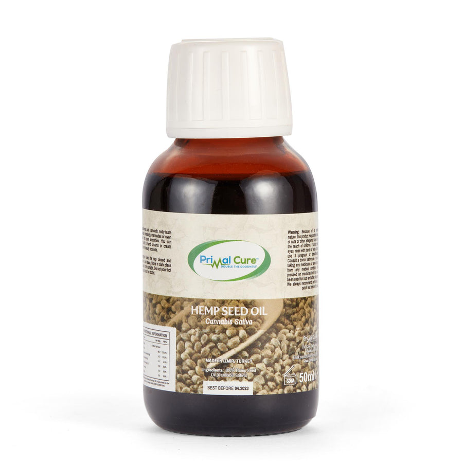 Cold-Pressed Edible Hemp Seed Oil 50ml