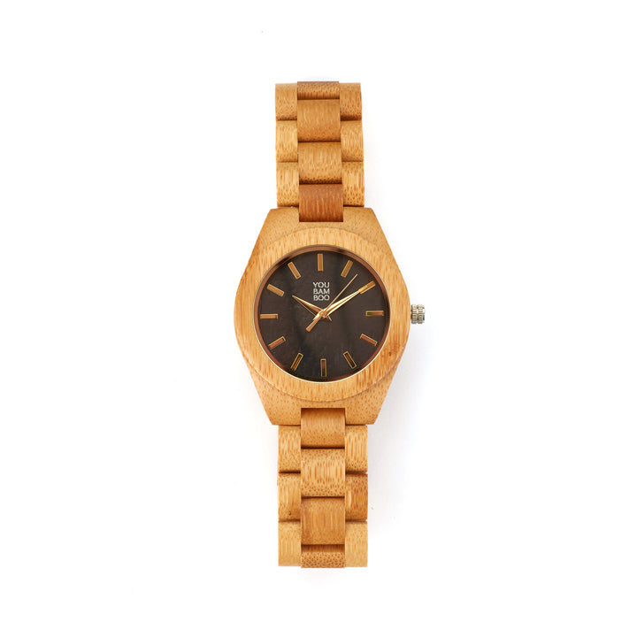 YouBamboo Watch with Bamboo Strap - Female