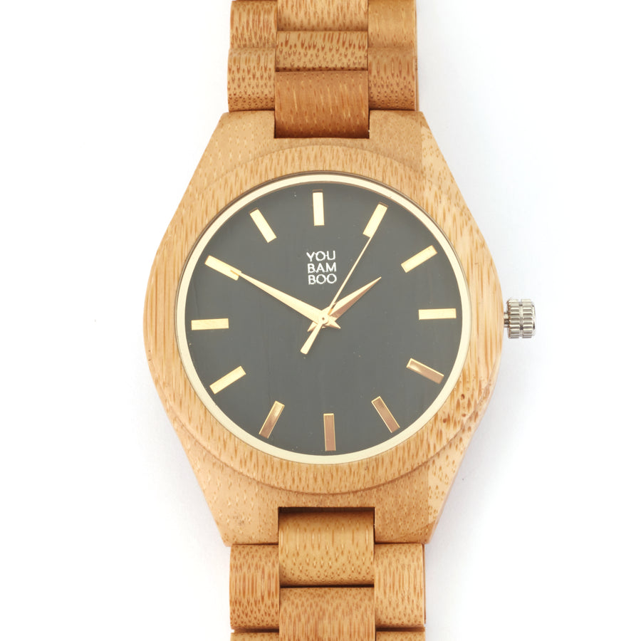 YouBamboo Watch with Bamboo Strap - Male