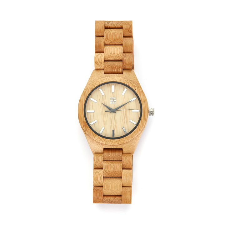 YouBamboo Watch with Bamboo Strap and Clock face - Male