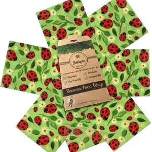 BeeKeepers Food Wraps - Set of 7 (ladybird design)