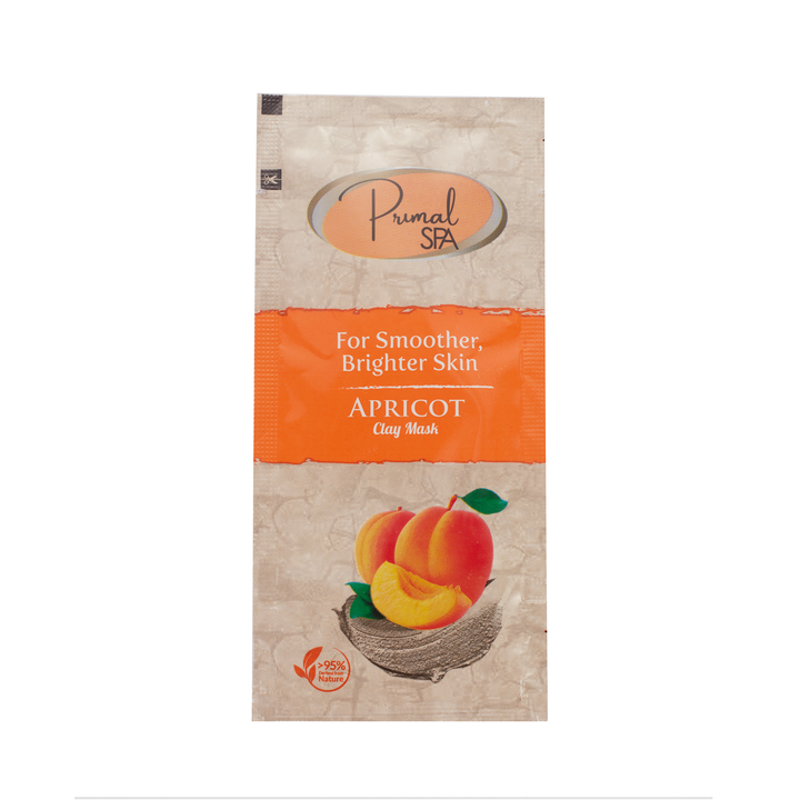 Natural Apricot Clay Face Mask Sachet 20ml