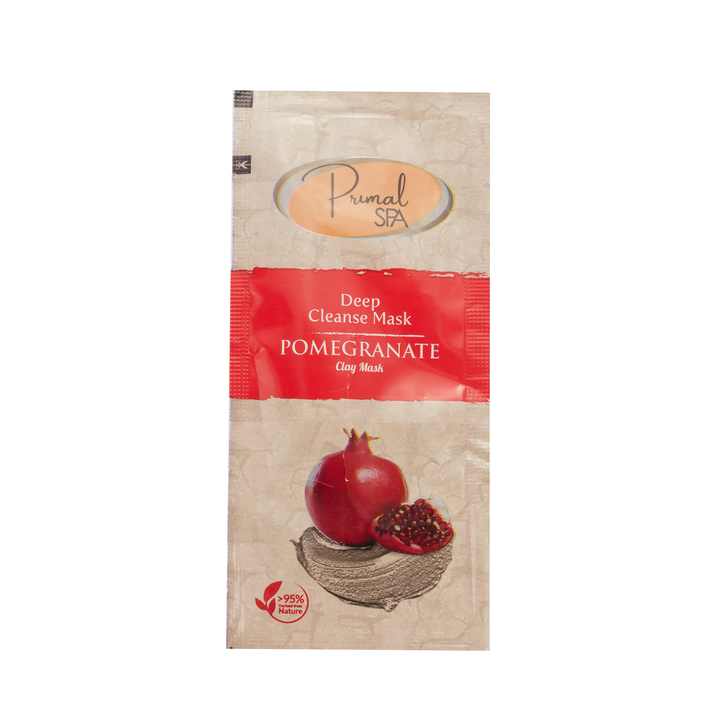 Natural Pomegranate Clay Face Mask Sachet 20ml