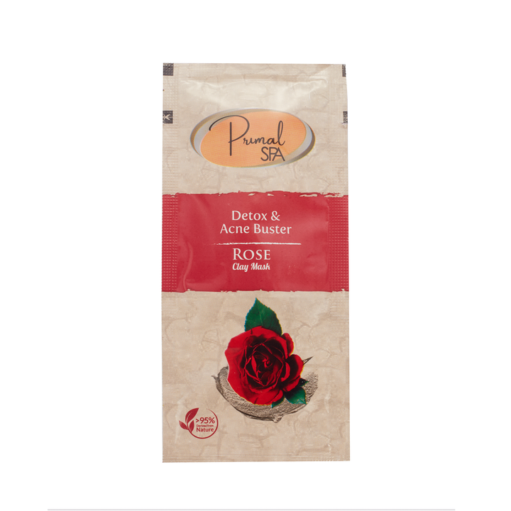 Natural Rose Clay Face Mask Sachet 20ml