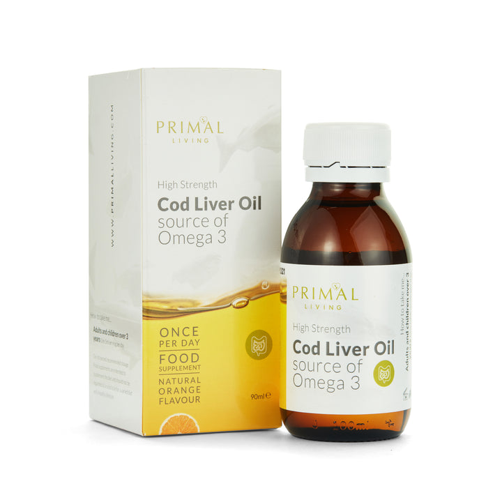 Cod Liver Oil with Natural Orange Flavour - Liquid Supplement 100ml
