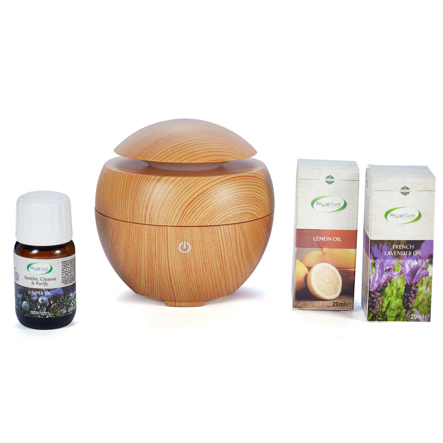 Cool Mist Aroma Humidifier with Wooden Finish